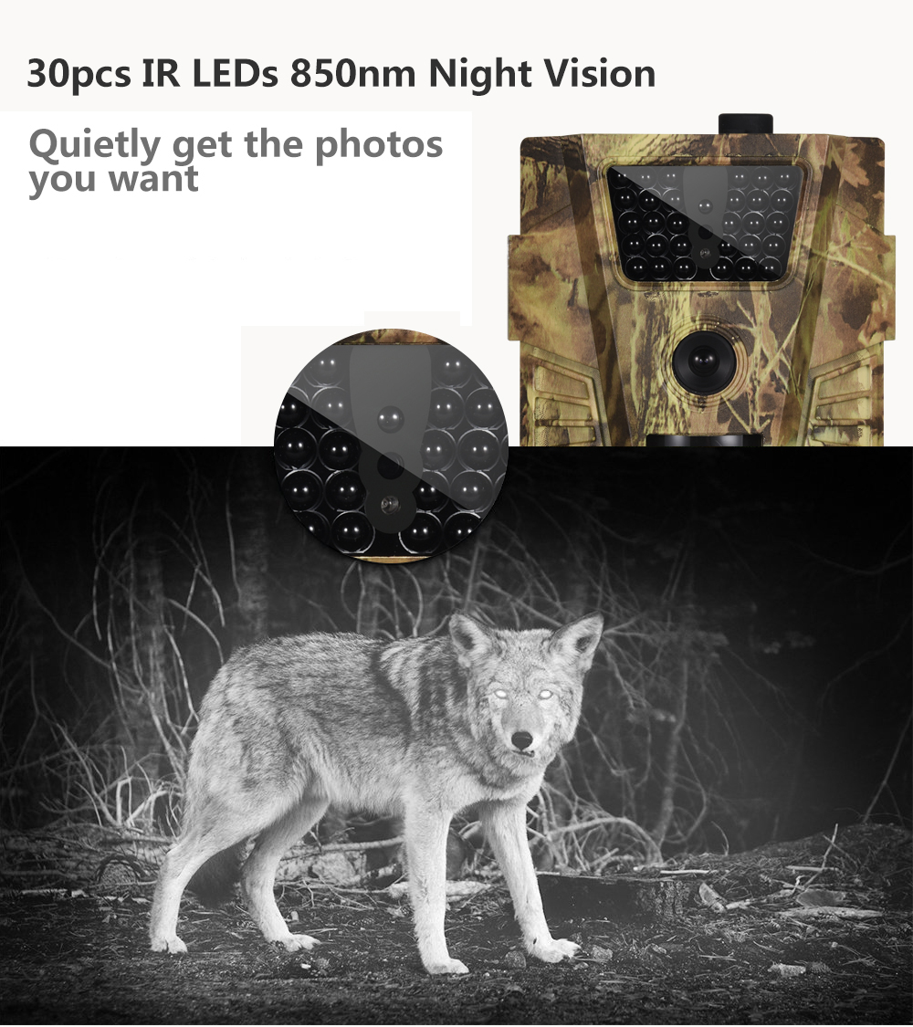 câmera de caça básica ht001b 12mp 1080