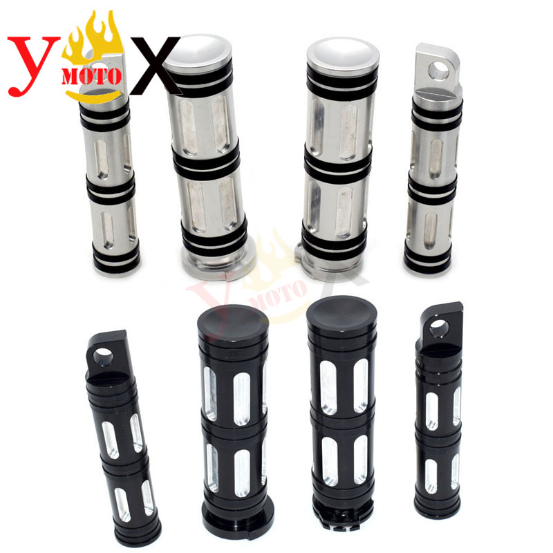 Motorcycle CNC Edge Cut Footpeg Foot Rest 25MM Handlebar Hand Grips For Harley Softail Touring Sportster