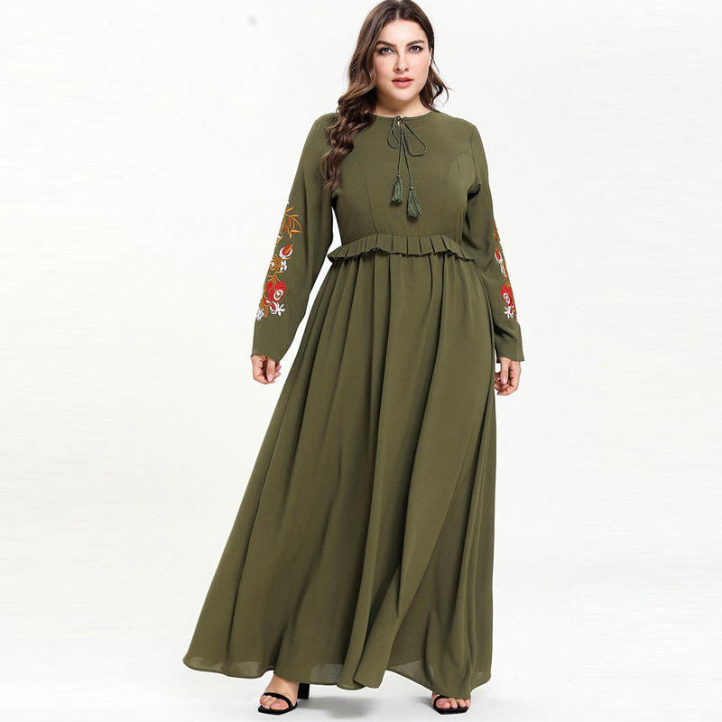 Ramadan Abaya Dubai Maxi Muslim Dress Vestidos Compridos Tesettur Elbise Caftan Marocain Arab Women Robe Femme Hijab Eid Dresses