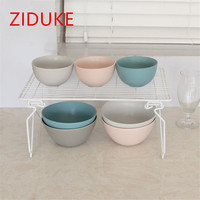 ZIDUKE White Simple Style Multi function Folding Superimposed Kitchen Seasoning Rack And Dish Rack Toilet Collection Rack