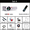 5500 lúmenes 1920x1080 3d de cine en casa projetor proyector proyector inteligente Android 4.4 tv lcd led proyector de vídeo completo accesorios de alta definición