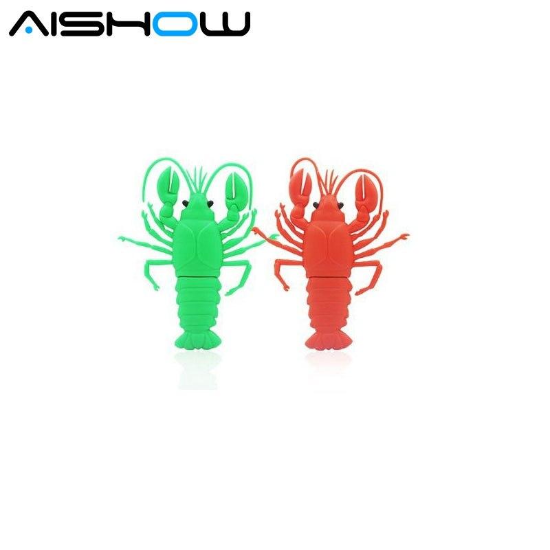 100% real capacity New Arrival Hot cartoon shrimp model USB Flash Drive 4GB/8GB/16GB/32GB USB 2.0 flash PenDrive/U Disk 2 colors