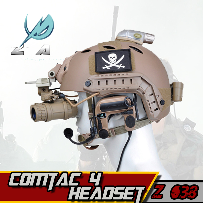 Z-TAC Earphone Element z tactical Comtac 4 Noise-canceling Airsoftsports Tactical Headphones Military Hunting Tactical Headset