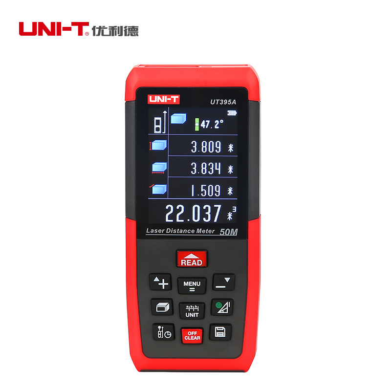 UNI-T UT395A UT395B UT395C Portable Laser Rangefinder 50m 70m 100m Laser Distance Meter Range Finder Rechargeable unit ut395a ut395b ut395c laser distance meters 50m 70m 100m rangefinder best accuracy software data calculate continuous measur