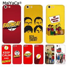 MaiYaCa Bazinga The Big Bang Theory tv show molle del telefono di tpu della copertura di caso per il iPhone di Apple 8 7 6 6S Plus X 5 5S SE 5C 4 4S Custodie(China)