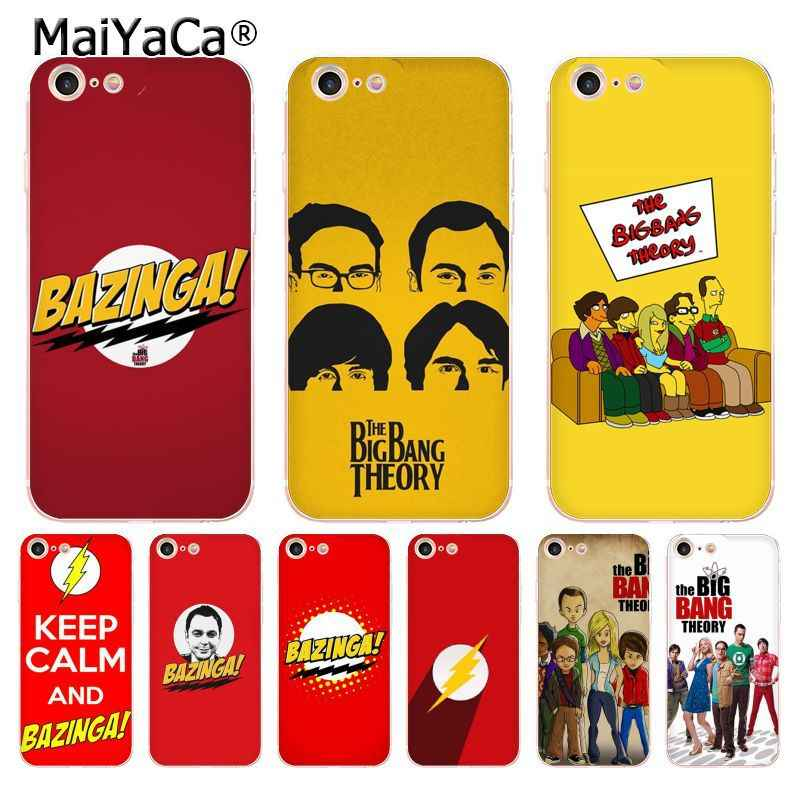 MaiYaCa Bazinga The Big Bang Theory tv show soft tpu phone case cover for iPhone 8 7 6 6S Plus X 5 5S SE 11pro max Cases