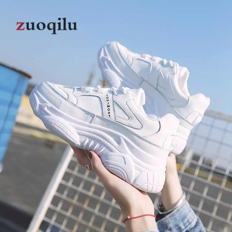 Wedge White 2019 Beige Femmes Plate Femme Sneakers Casual Forme zGMSUVpq