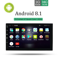 EU/ RU Warehouse 2 din Android 8.1 Radio GPS 7inch 1024*600 HD touch screen support DAB,TV,3G/4G,OBD
