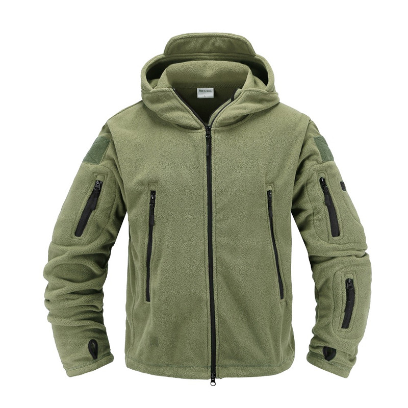 Hiking Jackets Trustful Military Men Fleece Tactical Jacket Winter Outdoor Thermal Stitch Coat Male Solid Color Breathable Mountaineering Riding Outwear