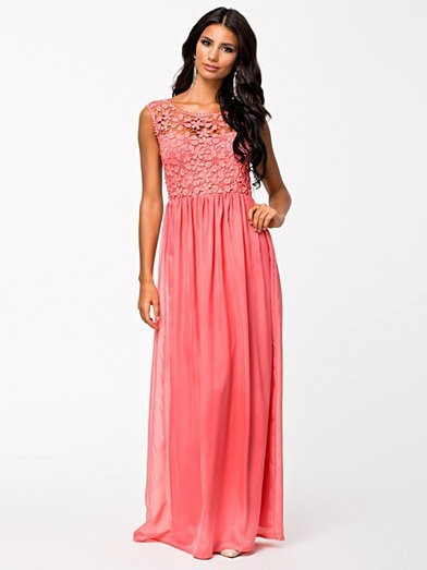 Sleeveless Top Crochet Sexy Lace Chiffon Maxi Dress 4
