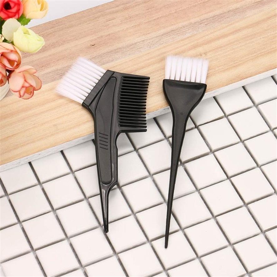 2018 New 2 Pcs/Set  Professional Hairdressing Brushes Salon Comb Hair Color Dye Tint Tool Kit New  Hair Salon Dye Tools
