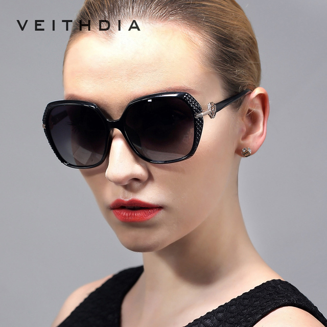 21501364b3 VEITHDIA TR90 Large Sun glasses Polarized Carved Diamond Ladies Women  Designer Sunglasses Outdoor Eyewear Accessories 7021