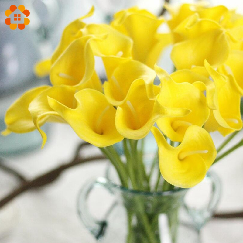 5PCS Creative Calla Artificial Flowers Decorative Flowers DIY Flower Bouquet Wedding Favors For Home Garden/Wedding Decoration