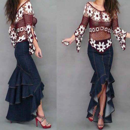 Popular Mermaid Denim Skirt-Buy Cheap Mermaid Denim Skirt lots ...