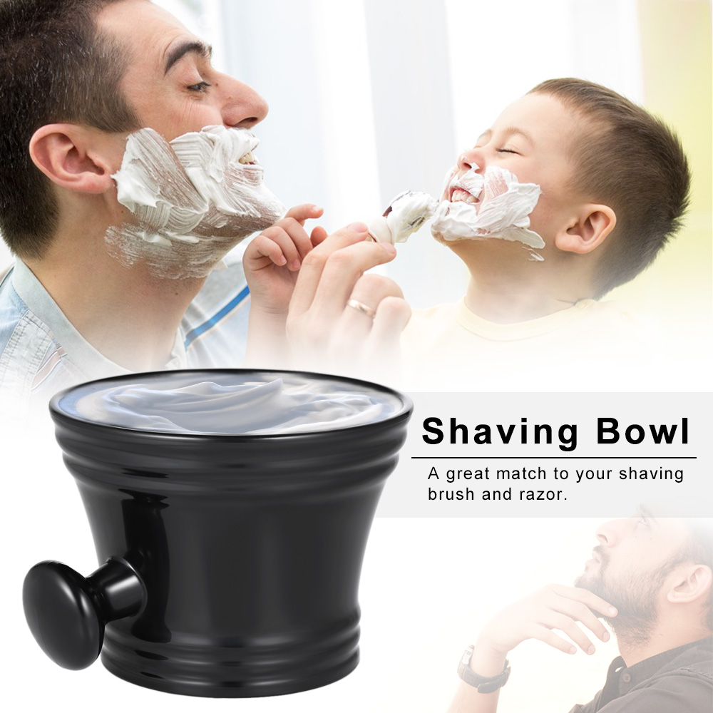 Man's Plastic Shaving Bowl With Handle Soap Mug Bowl Barber Cleaning Soup Cup For Razor Brush Male Face Cleaning Mug Cup Tool