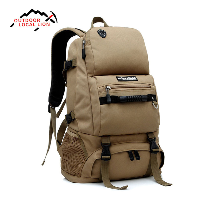 LOCAL LION 40L Shoulder Bag Backpack Waterproof Bag With Shoes Compartment For Traveler Hiking Mountaineering
