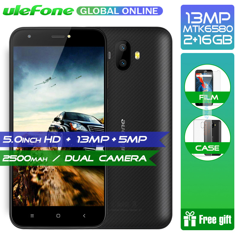 Originele Ulefone S7 Pro 2 gb RAM 16 gb ROM 3g WCDMA MTK6580 Quad Core 5.0