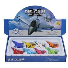 8 pz/set Tirare Indietro Metallo Modello Della Lega Fighter Diecast Cars Dinky Giocattoli Aeroplano Giocattolo Per I Bambini Bambini Brinquedos Regalo