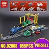 Lepin 02008 Genuine City Series The Cargo Train Set 60052 Building Blocks Bricks Educational Toys As