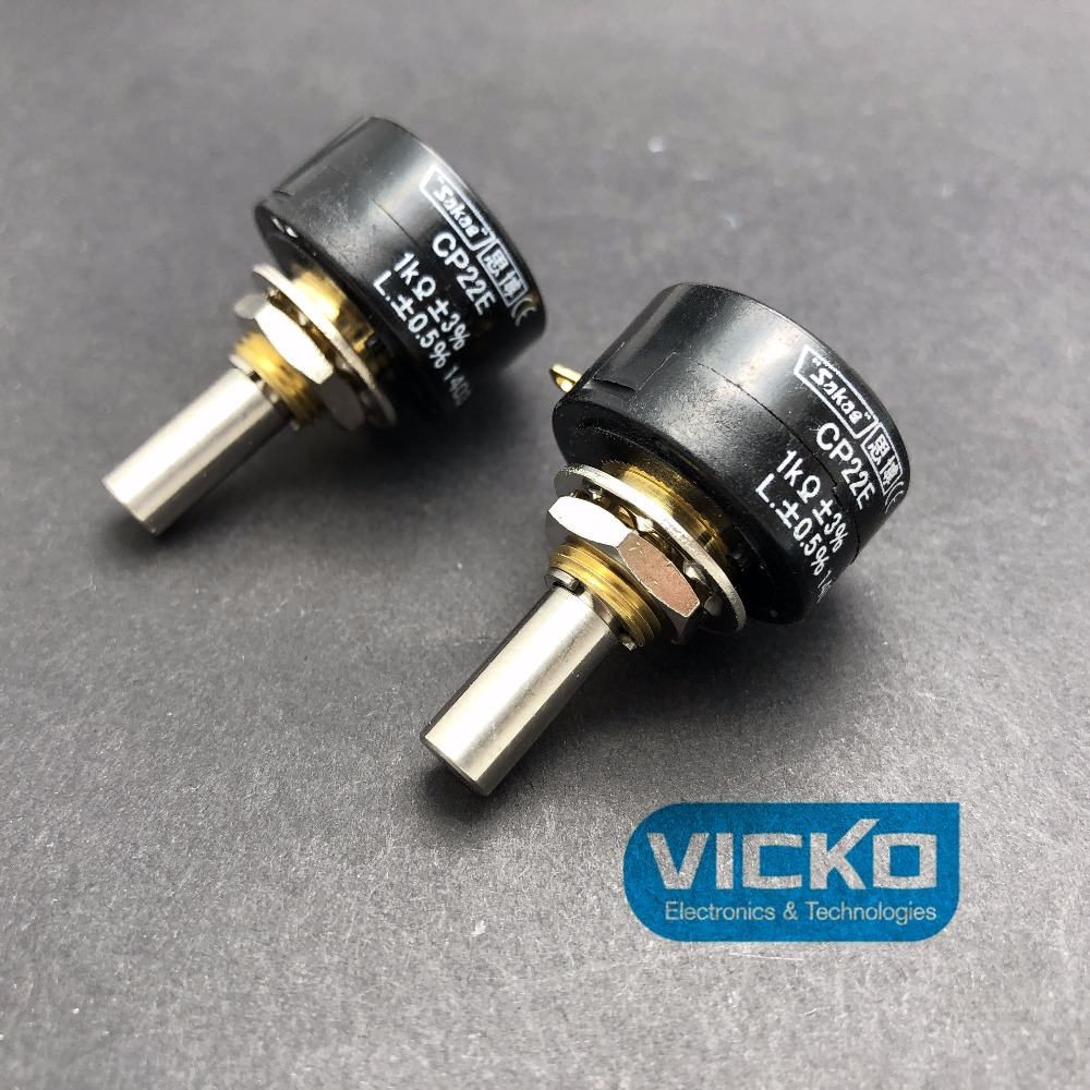 [VK] original JAPAN SAKAE potentiometer CP22E 1K 2K 5K 10K single coil winding resistance SWITCH niko 50pcs chrome single coil pickup screws