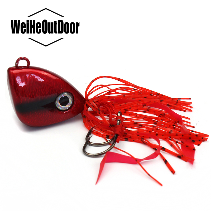Red Triangle Fishing Lead Jigging Bait Sinking bait 150g 1Pc Fish Jig Head Artificial Tackle Pesca Peche