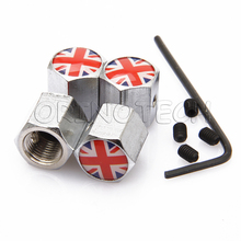Anti Theft The Union Jack Car Wheel Tire Valve Cap For BMW Ford Chevrolet Volkswagen Audi Toyota Opel Volvo Mazda Citroen SEAT