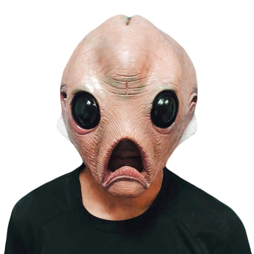 2018 ใหม่ ET เต็มใบหน้าหน้ากากสำหรับวันฮาโลวีนตาโตเป็นมิตรกับสิ่งแวดล้อมธรรมชาติน้ำยางคืบหน้ากากสำหรับฮาโลวีนปาร์ตี้แต่งตัว