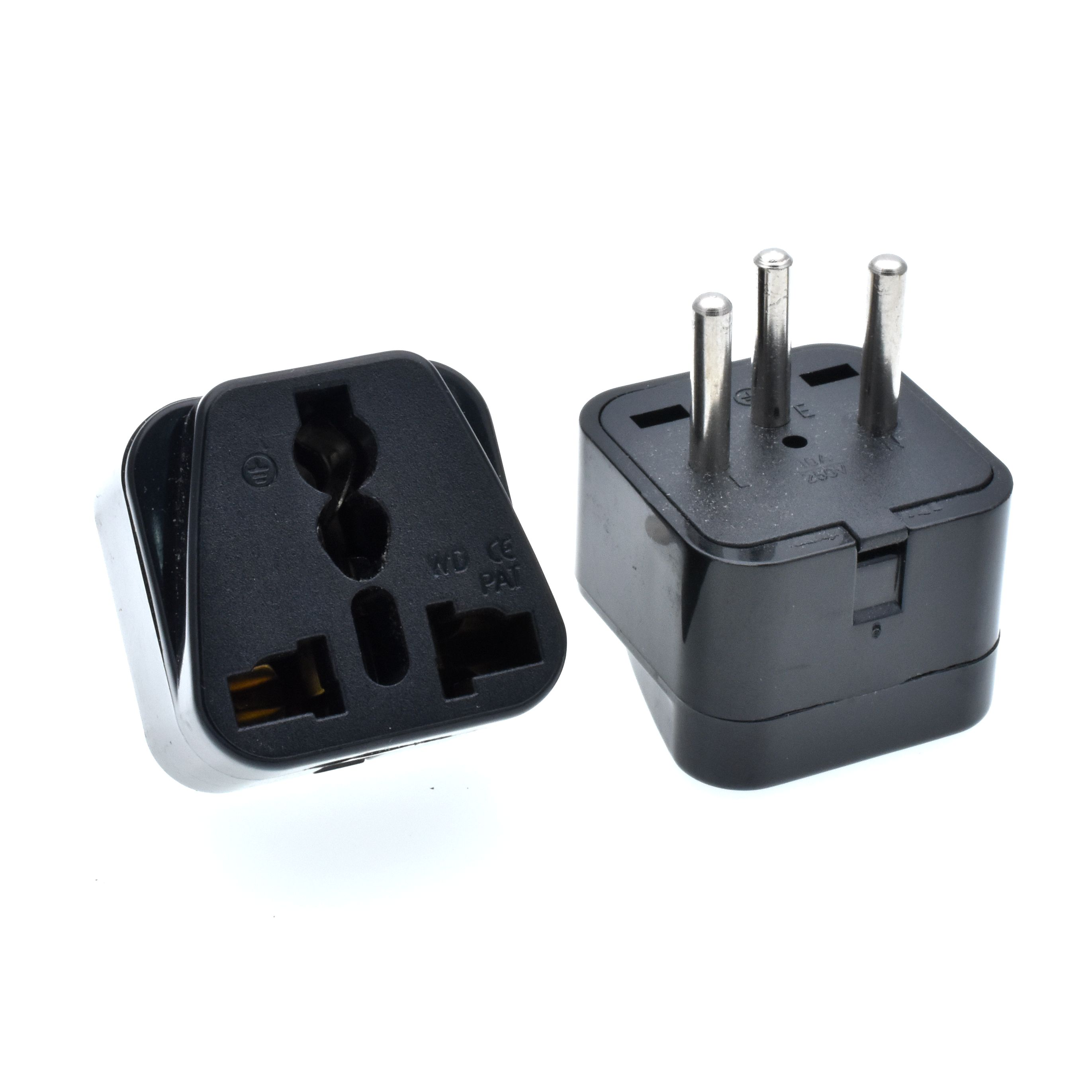 Universal Israel IL Plug Adapter EU European US UK To IL Israel Egypt Travel Adapter Electric Plug Power Charger Socket Outlet swiss power outlet