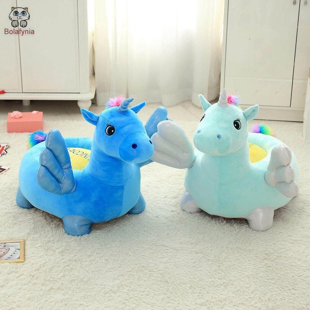 BOLAFINIA enfants jouets en peluche licorne canapé bébé enfants siège chaise noël cadeau d'anniversaire en peluche