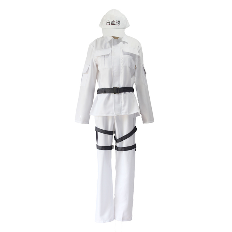 Hataraku Saibou Leukocyte U-1146 Cosplay Costume Cells at Work White Blood Cell Men Women Uniform Halloween Party Suits