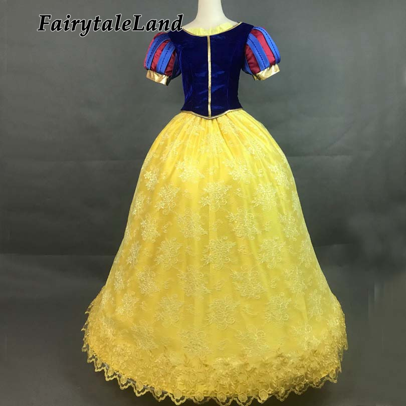 Princess Snow White Dress Fancy costume lace gown party dress for adult women Halloween Snow White Cosplay costume custom made child performance wear female child white princess dress cosplay costume fancy dress party