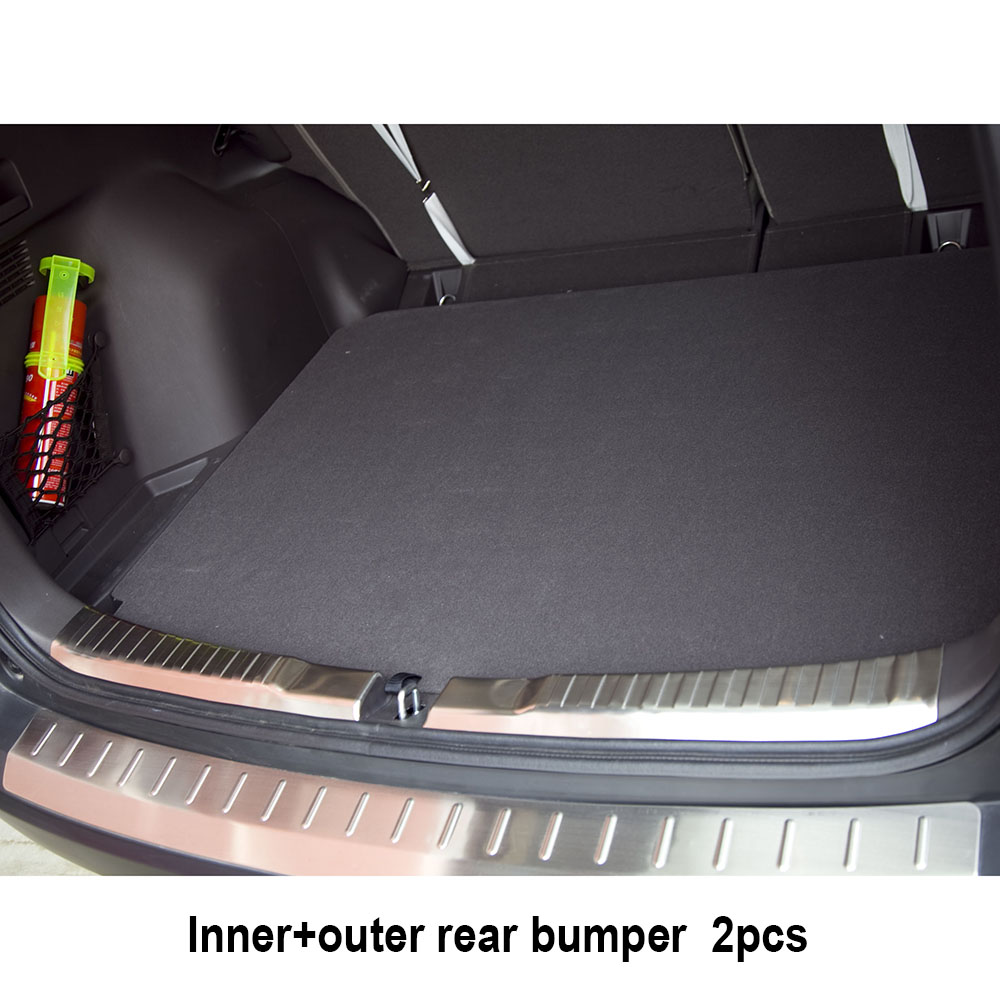 2PCS FIT FOR 2012 2013 2014 2015 2016 HONDA CRV CR-V REAR BUMPER PROTECTOR CARGO STEP PANEL COVER SILL PLATE TRUNK TRIM GARNISH 2pcs set accessories fit for 2015 2016 2017 nissan qashqai j11 rear bumper protector cargo boot sill plate trunk lip