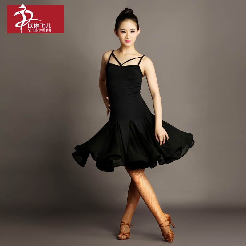 Latin Fringe Dress 2016 Limited Promotion Women Spandex Latin Dress Womens Ballroom Tango Rumba Cha Samba Dance Costume Gb043