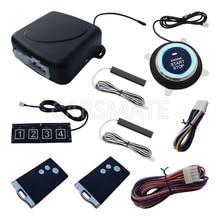 New RFID PKE Car Alarm System Remote Engine Start Cut Off Push Start Car Smart Password keyboard Fits For DC12v Cars