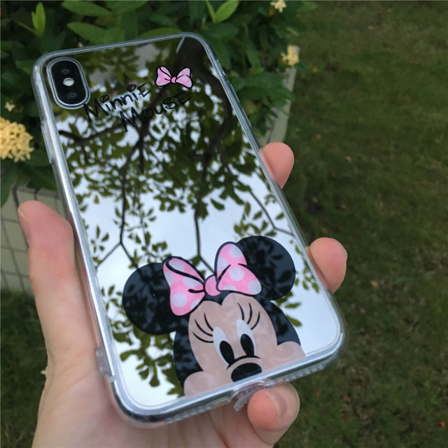 Minnie Mouse Silicone TPU Mirror Case – iPhone