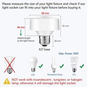 Image 5 - Tuya Smart Life WiFi Light Socket Lamp Holder for E26 E27 Edison Screw Led Bulb Google Home Echo Alexa Voice Control App Timer