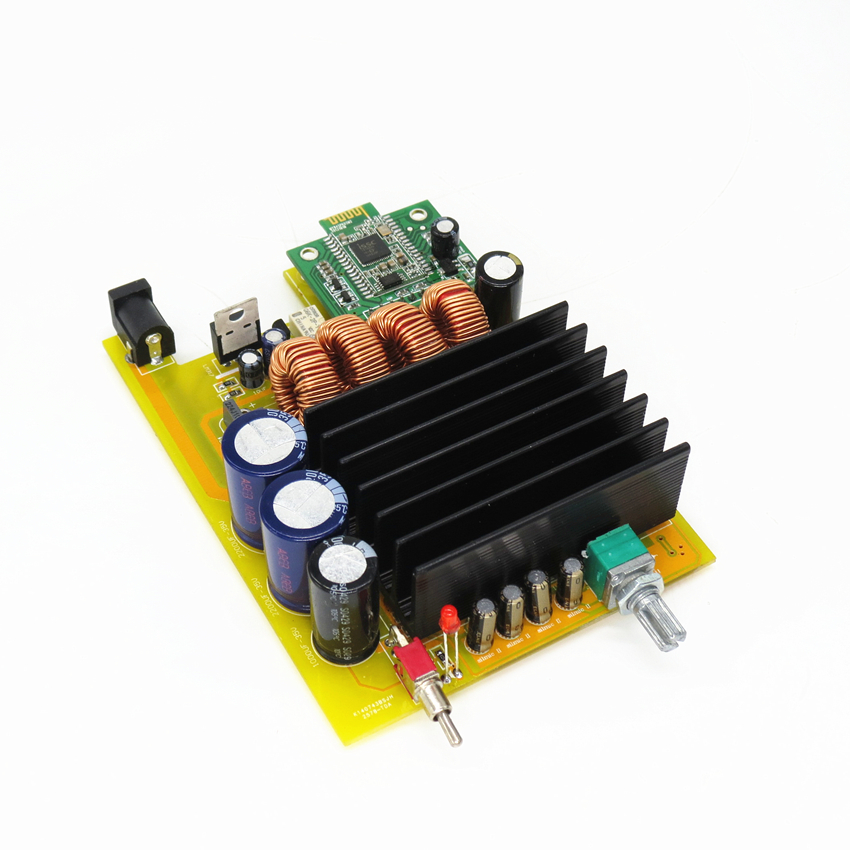 The latest version TDA7498E 160w 2.0 bluetooth digital stereo amplifier board ISSC latest bluetooth solutions