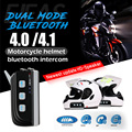 New Arrival Dual Bluetooth Motorcycle Helmet Intercom BT Headset 1200M 4 Rider Full Duplex Communication Interphone Moto Speaker