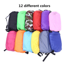 Inflatable Air Sofa Lazy Bag Lounger Laybag Outdoor Flocked Camping Portable Pillow sofa Beach air Bed Sleeping Bags 240*70CM