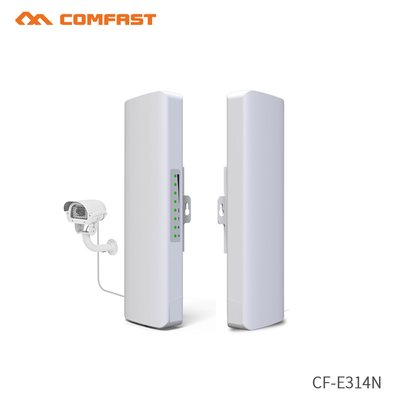 2pcs 27dBm High Power Outdoor Wifi Repeater 2.4GHz Comfast 300Mbps Wireless Wifi Router AP Extender Bridge nano station CF-E314N
