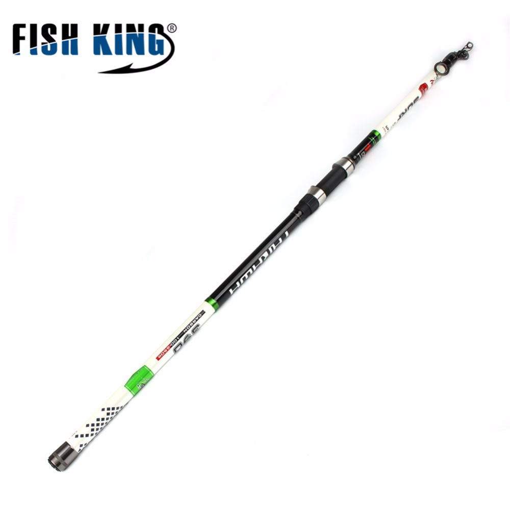 Canne à pêche poisson roi carpe 3.9 m 4.2 m 4.5 m 100-250G 4 Scetions matériau carbone pêche légère océan pêche canne à Surf matériel de pêche