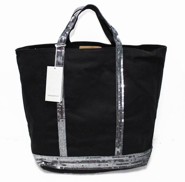 Vanessa Bruno Bag Paillette Uncovered Canvas Bags Top Handle Tote Brief Ping