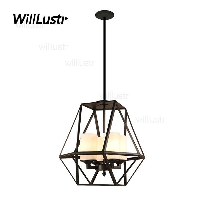 Modern candle pendant Light chandelier replica Kevin Reilly GEM metal light fixture iron milk white glass shade suspension lamp
