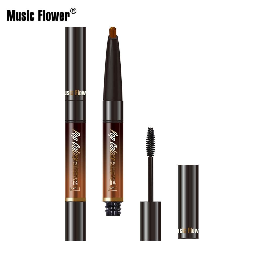 4 Color Fine Sketch Double Head Liquid Gel Eyebrow Cream Makeup Waterproof Tattoo Super Durable Easy To Wear Eye Brow Pencil