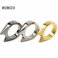 Fatpig Punk Mens Women Fashion Cool Cat Ear Self Defence Finger Ring Pendant Keychain Multifunction Outdoor Survival Tool(China)