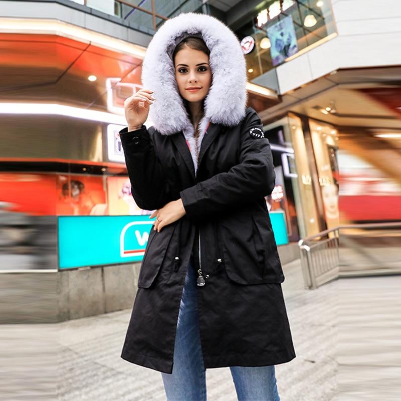 Frauen Kleidung & Zubehör Kompetent Frauen Licht Blau Große Farbe Fuchs Pelz Mit Kapuze Mantel Parkas Outwear Lange Abnehmbare Futter Winter Jacke Marke Stil Hn252 GroßE Auswahl;