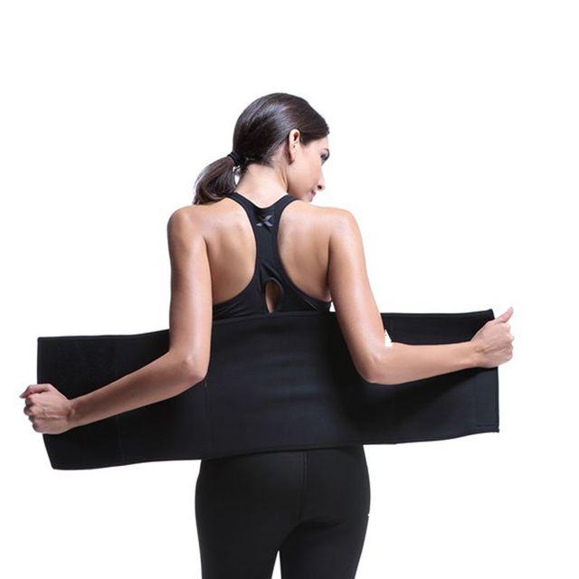 Neoprene Slimming Belt Sweat Women Body Tummy Shaper Belly Underwear Adjustable Excercise Fitness Sports Tops Gym Running 2
