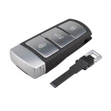 434MHz 3 Bottoni Keyless Uncut Vibrazione Smart Car Fob Chiave A Distanza con ID48 Chip 3C0959752BA per VW Passat B6 3C B7 Magotan CC