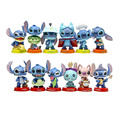 12pcs Mini Stitch figures figurines figura toy set 2016 New Anime stitch Christmas gift and dolls Home party supply Decoration
