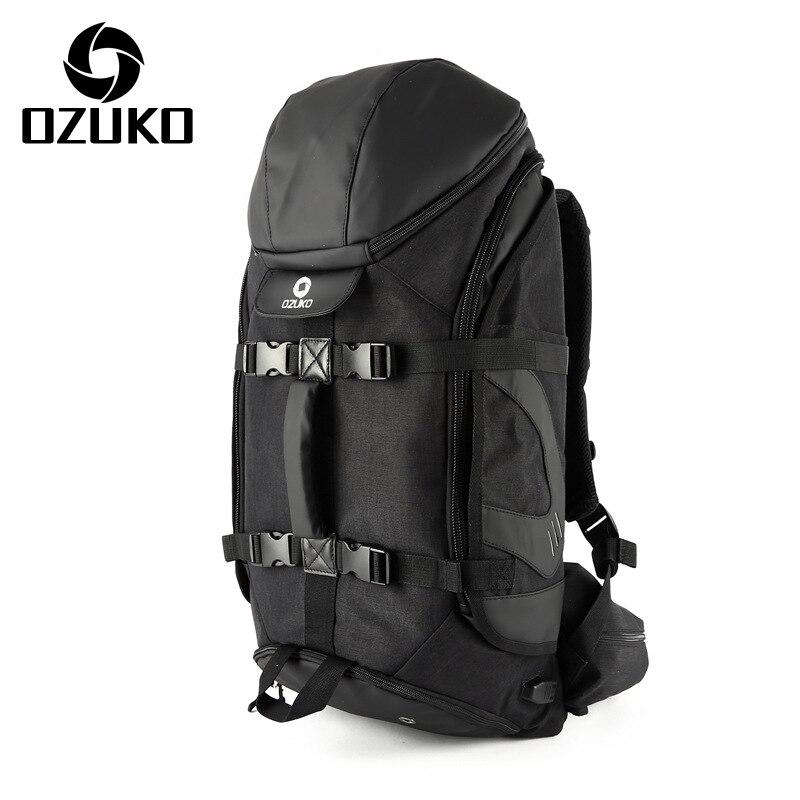 Fashion Mens Travel Backpack Multifunction Big Capacity Waterproof Mountaineering Bags Men USB Charging Luggage Laptop Bagpack